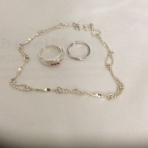 Jewelry - Ankle bracelet and toe rings